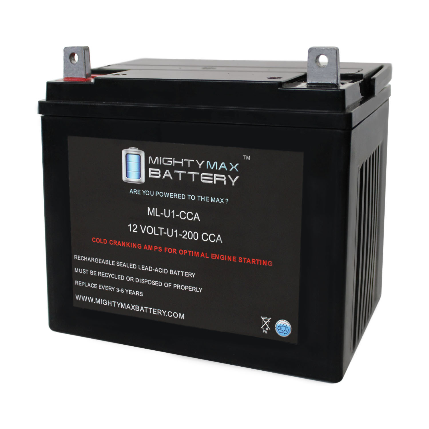 ML-U1 200CCA Battery for John Deere 67 Lawn and Garden Tractor Mower