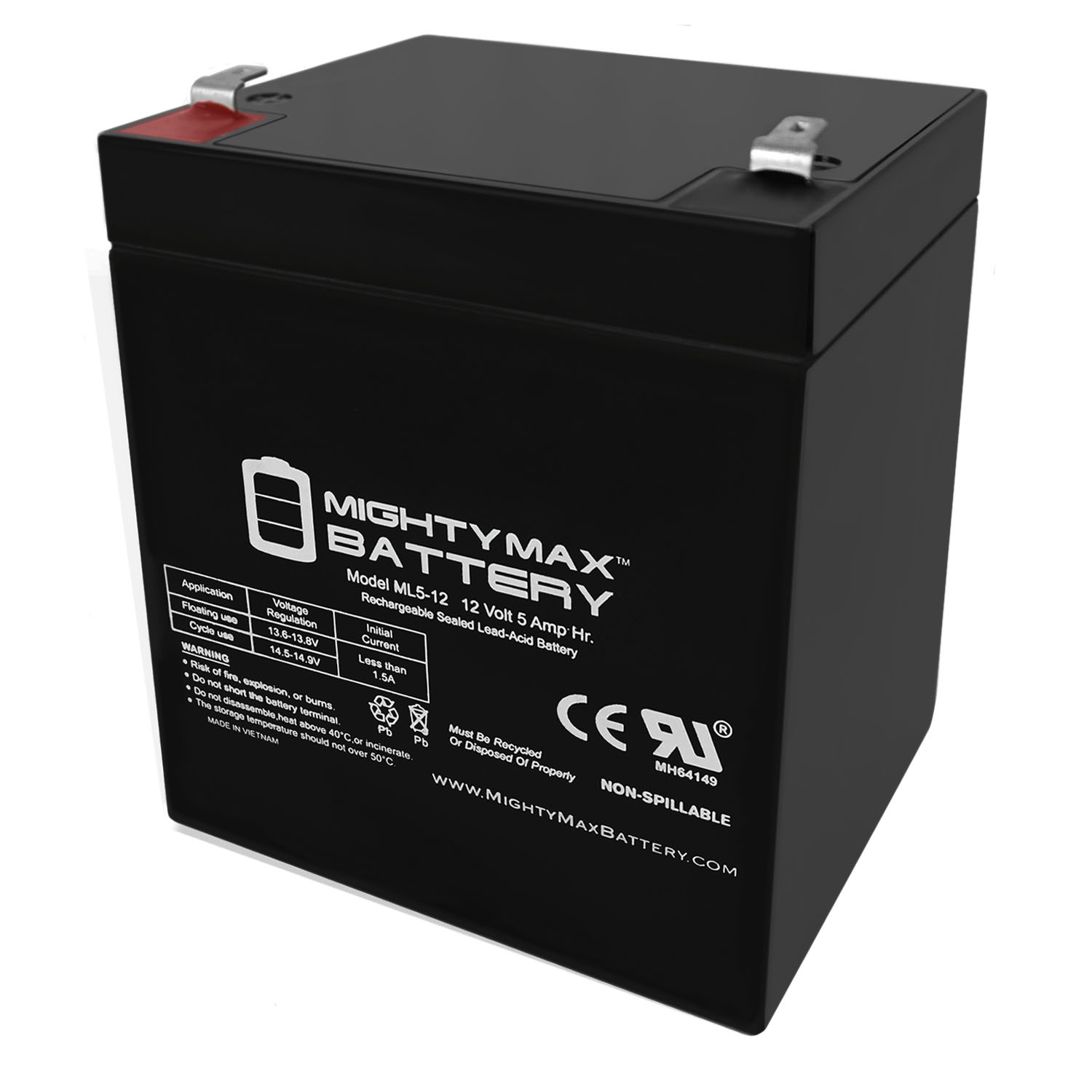 12V 5Ah Replacement Battery for Ademco BP4-12