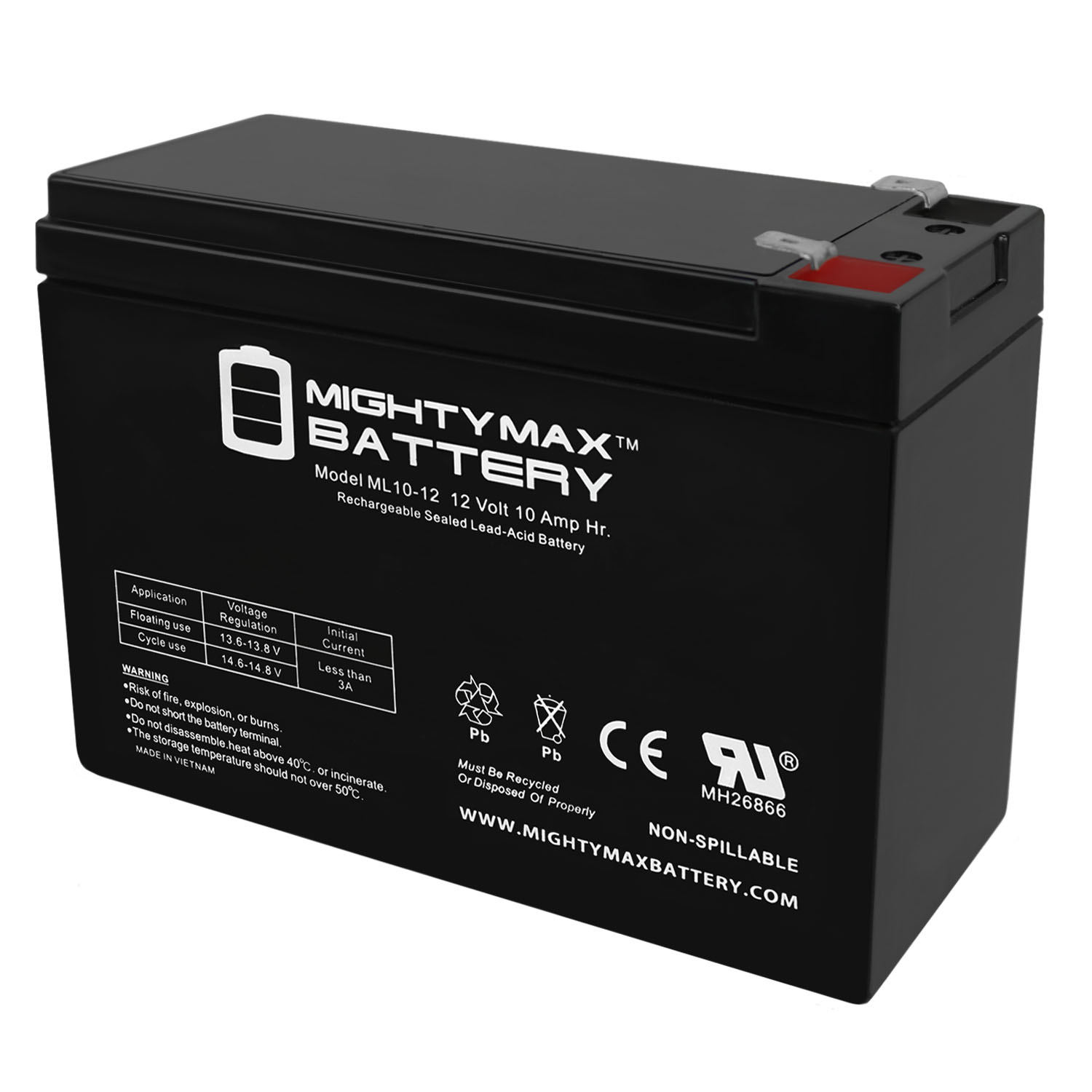 12V 10AH SLA Battery Replacement for Powerware 9125-1000