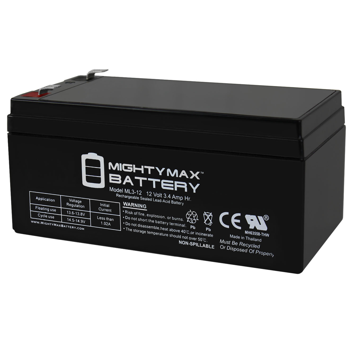 12V 3AH SLA Battery for Black  Decker CST1200 Cordless Trimmer