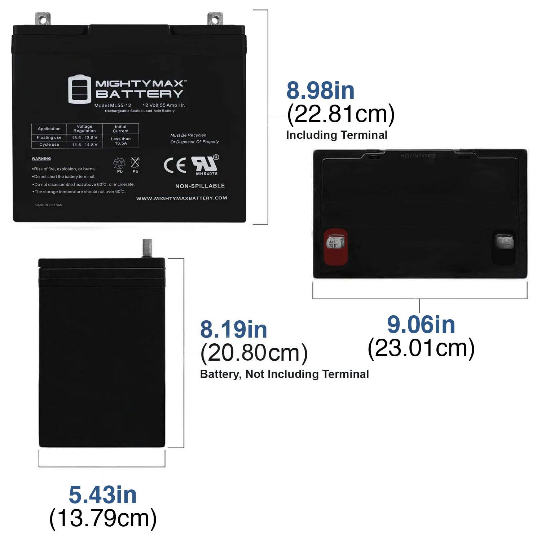 ML55-12 - 12V 55AH SLA Battery - 1