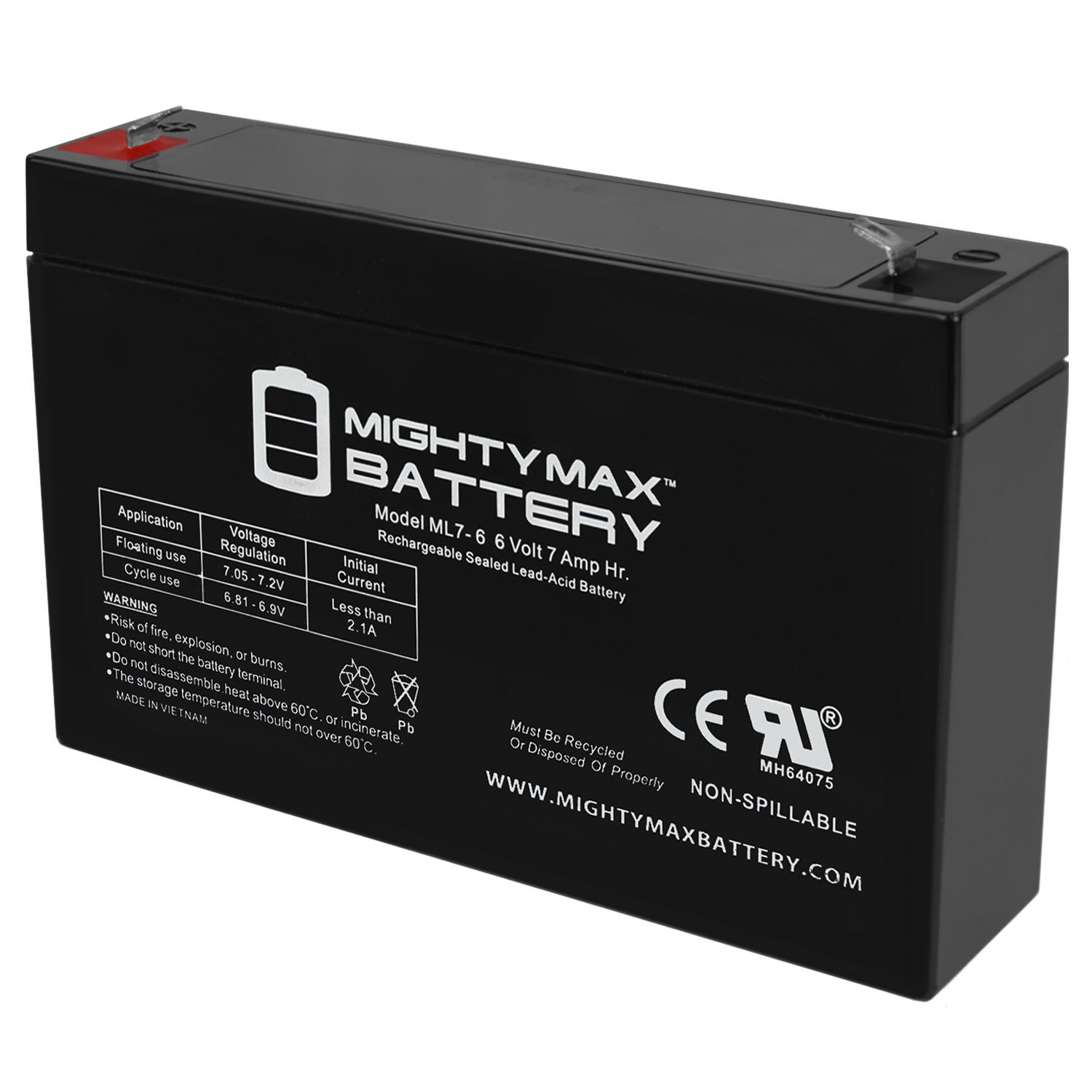 6V 7Ah SLA Battery Replacement for Bambini Uruz 12V Ride On SUV