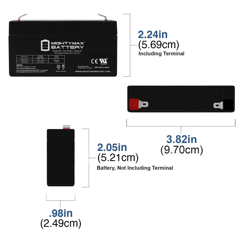 ML1.3-6 6V 1.3AH SLA Battery F1 Terminal - 1