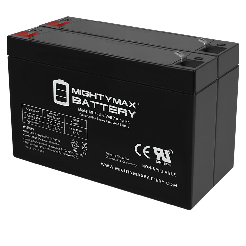 6V 7Ah SLA Battery Replacement for Cooper Lighting 02645SP - 2 Pack