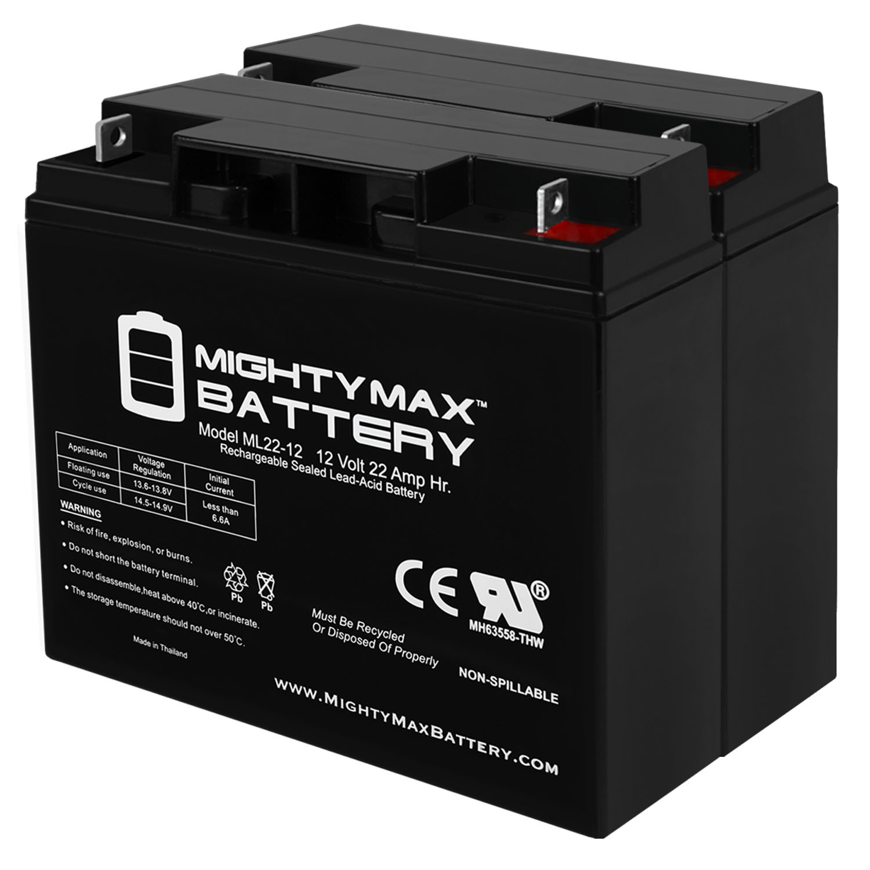 12V 22AH SLA Battery for Stanley Fatmax 450 Jump Starter - 2 Pack