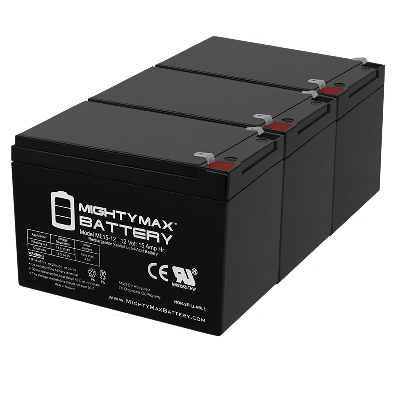 ML15-12 - 12V 15AH SLA Battery - PACK OF 3