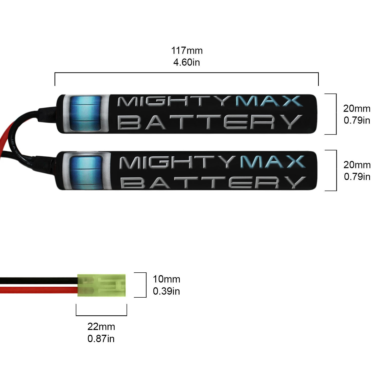 9.6V 1600mAh Butterfly Battery Pack - 1