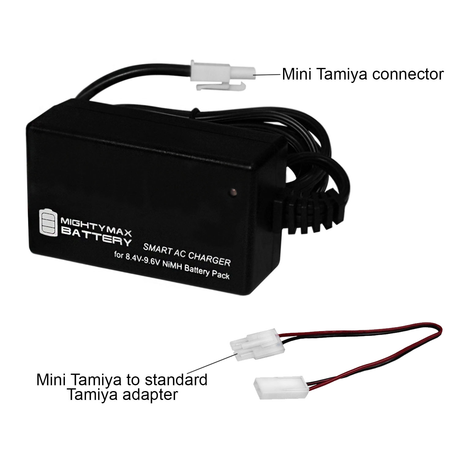 Smart Charger for 8.4V-9.6V NiMH Battery Packs w/ Mini Tamiya Connector - 2