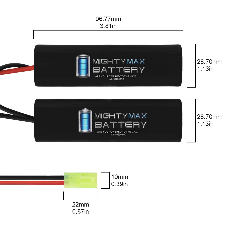 9.6V NiMH 2000mAh NiMH Nunchuck Battery Pack - 1