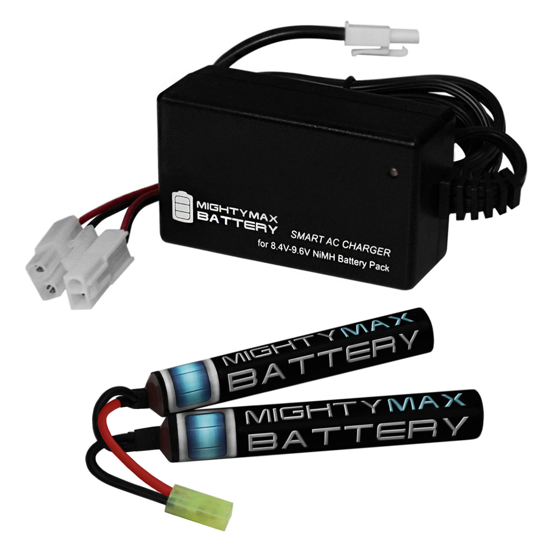 9.6V 1600mAh Butterfly Battery Pack + 8.4V-9.6V NiMH Smart Charger