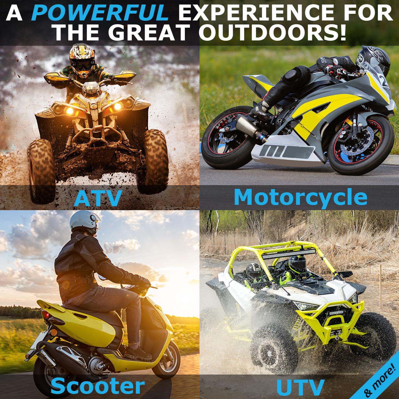 YTX7L-BS 12V 6AH Sealed AGM Battery for Motorcycle - 2 Pack - 4