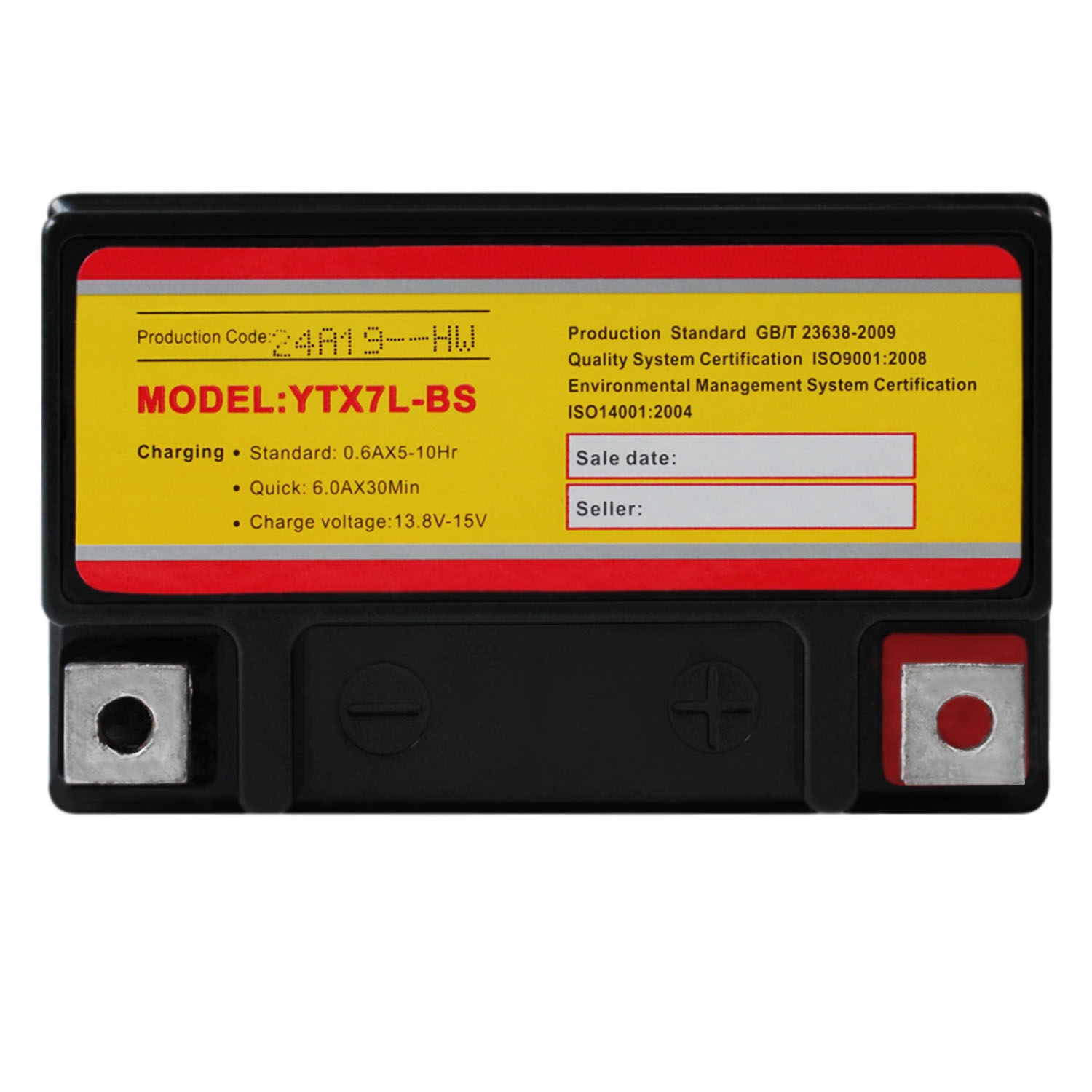 YTX7L-BS 12V 6AH Sealed AGM Battery For Motorcycles - 3 Pack - 4