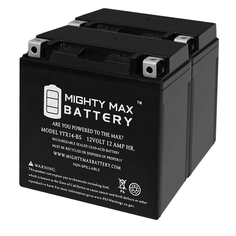 YTX14-BS 12V 12AH 200 CCA - SLA Battery - 2 Pack