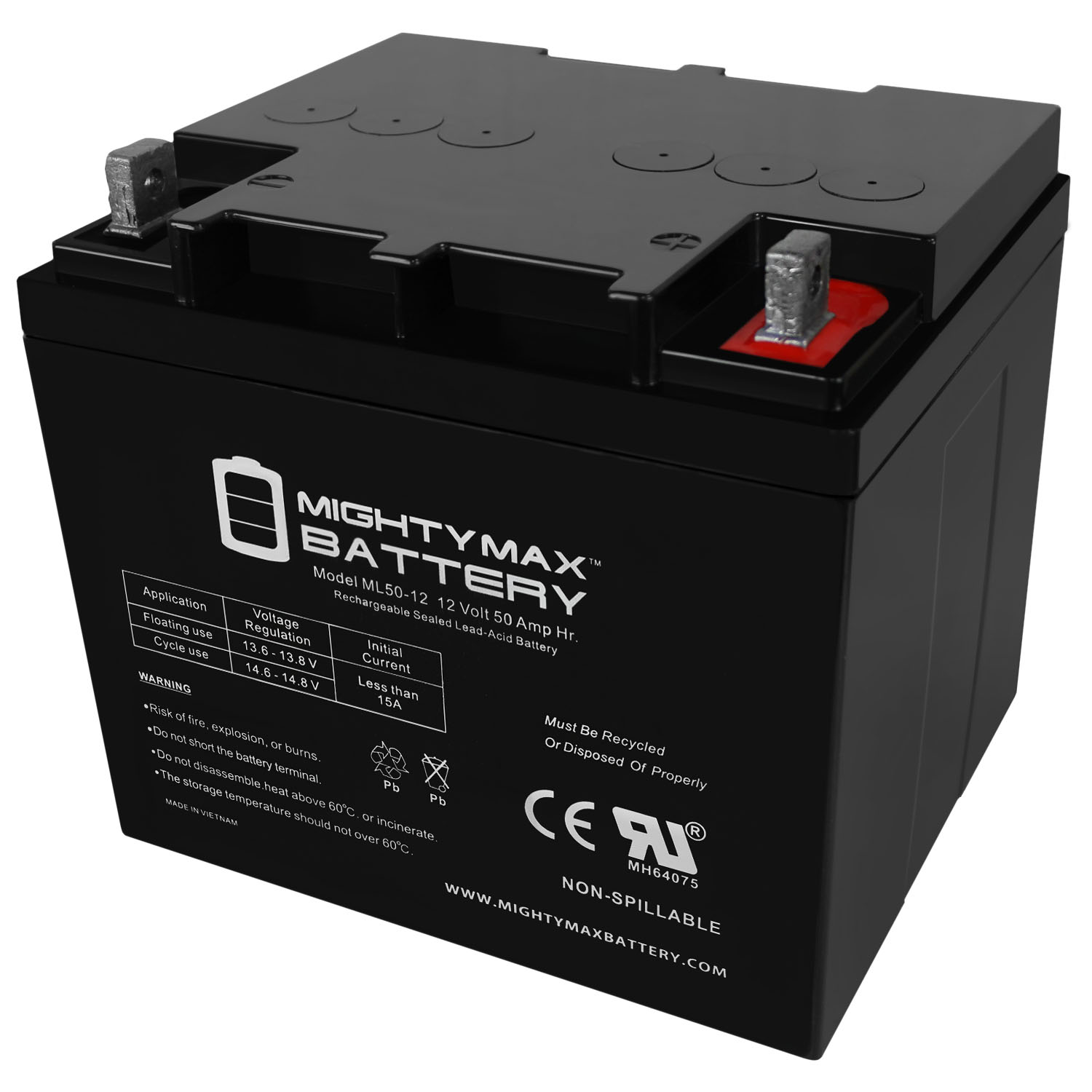 12V 50AH Replacement Battery for Minn Kota Edge 45