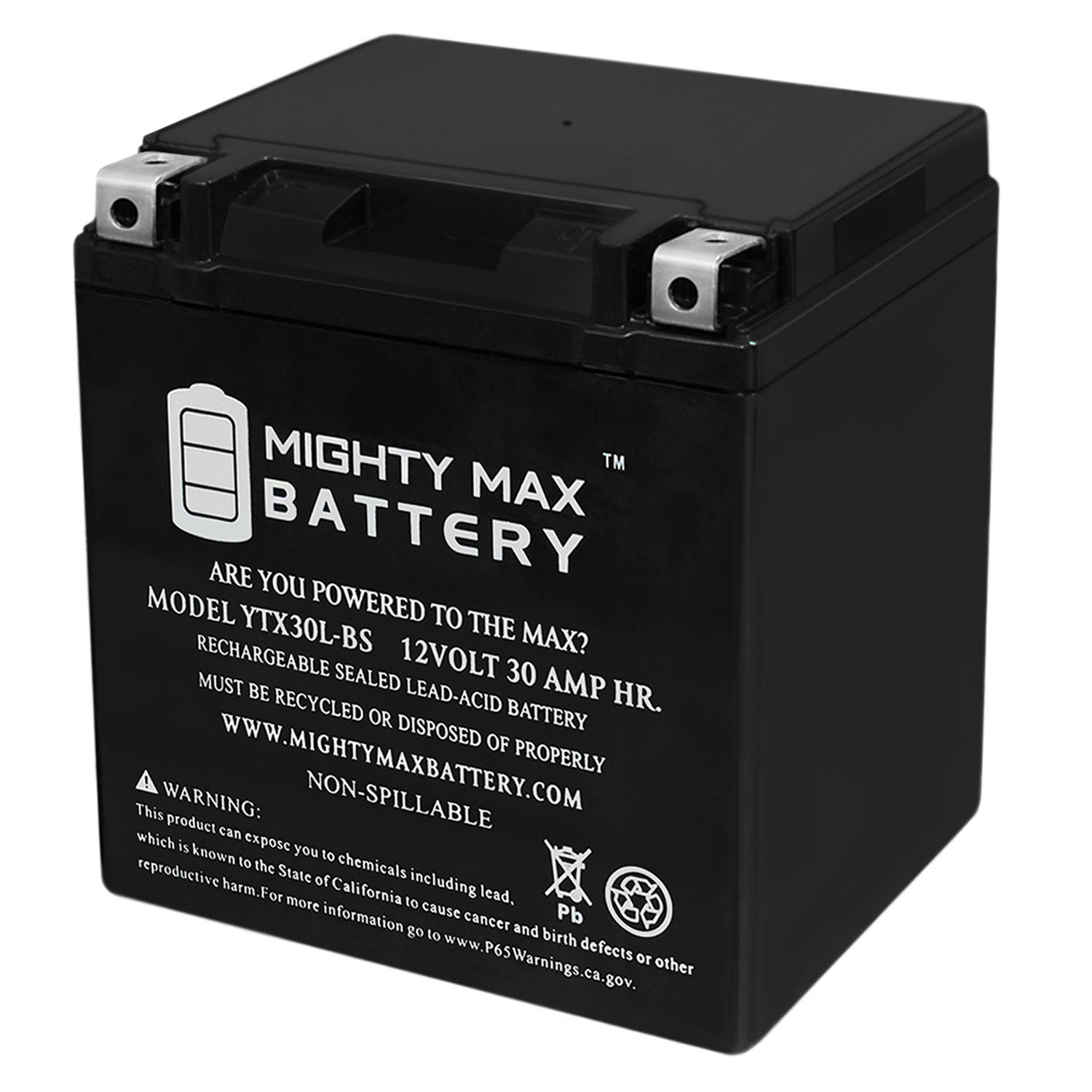 YTX30L-BS 12V 30AH Battery for Arctic Cat 700 Wildcat Sport, Trail 16
