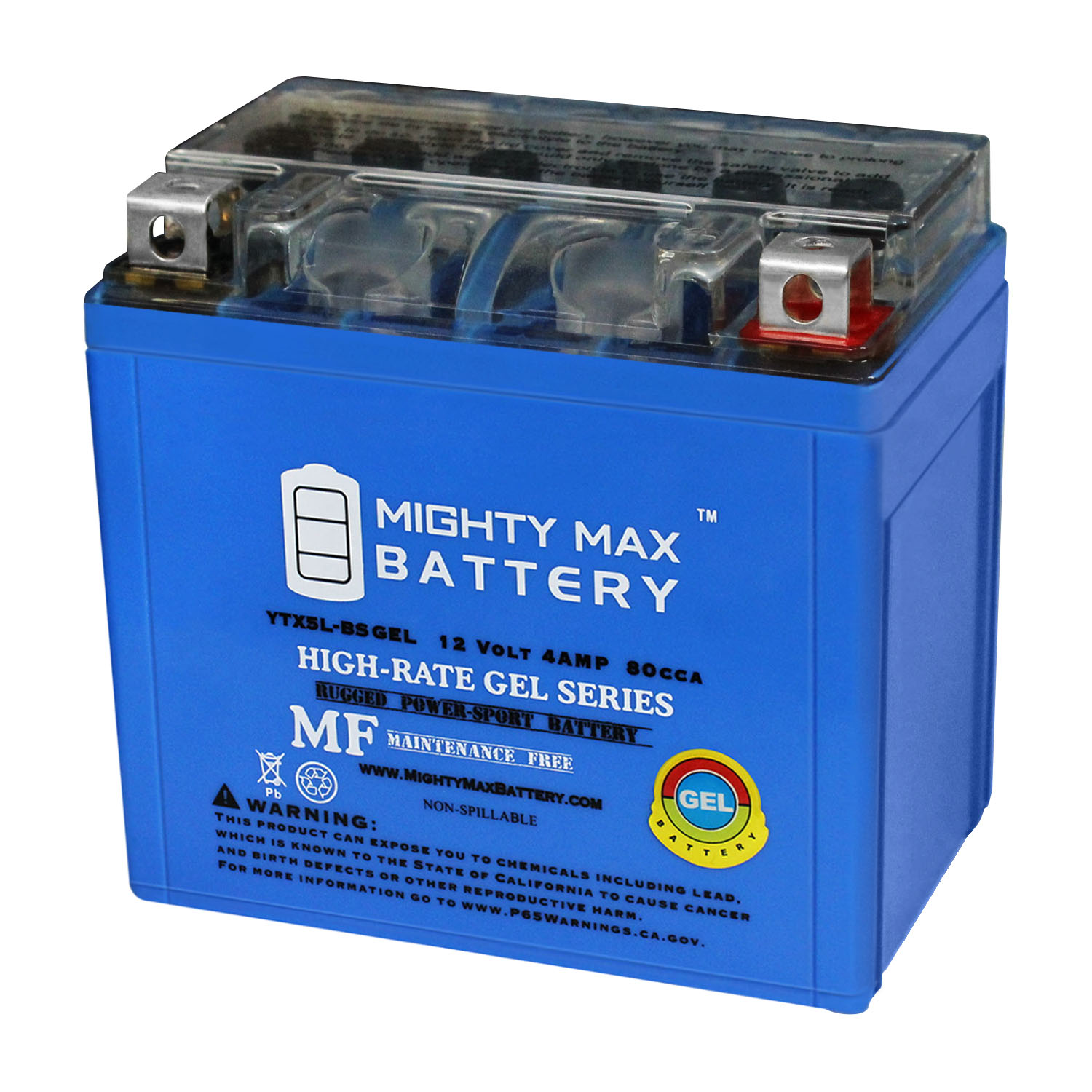 YTX5L-BS GEL Battery for KTM 350 XC-F '2011-'2012
