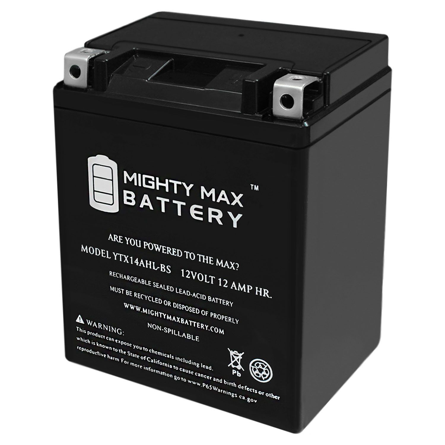 YTX14AHL 12V 12Ah Battery for Gilera 600 Top Rally, XRT 2011