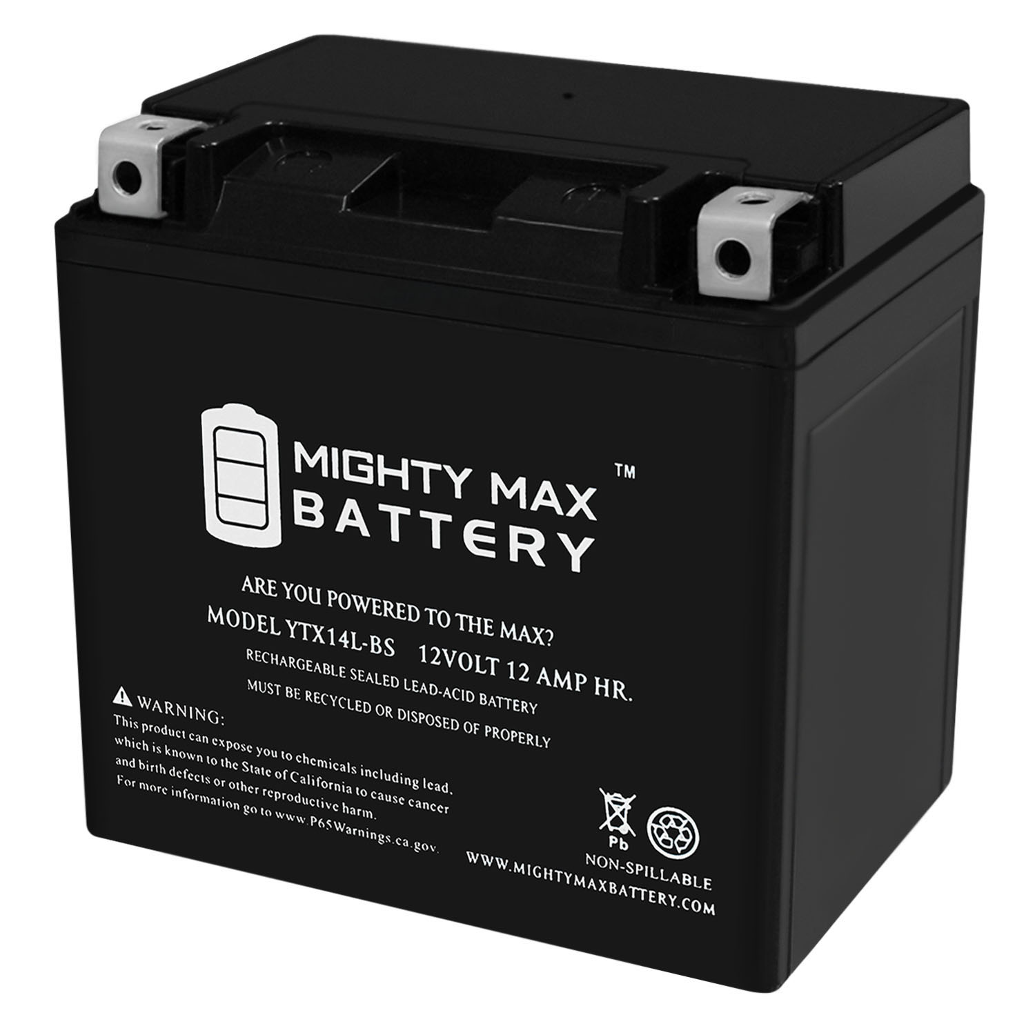 YTX14L-BS Battery Replacement for Harley Davidson XLH883