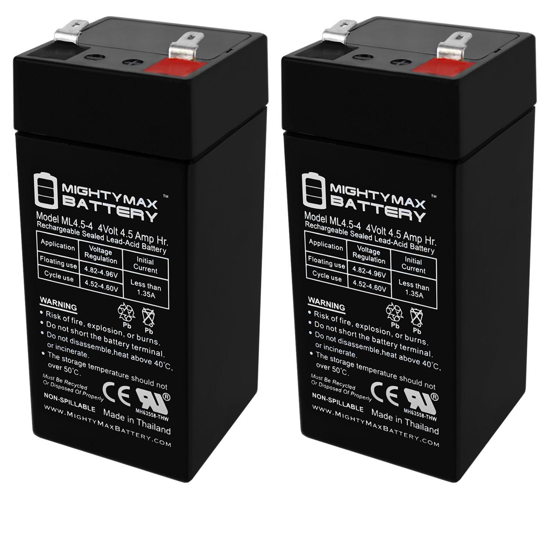 4 Volt 4.5 Ah Sealed Lead Acid Battery - 2 Pack