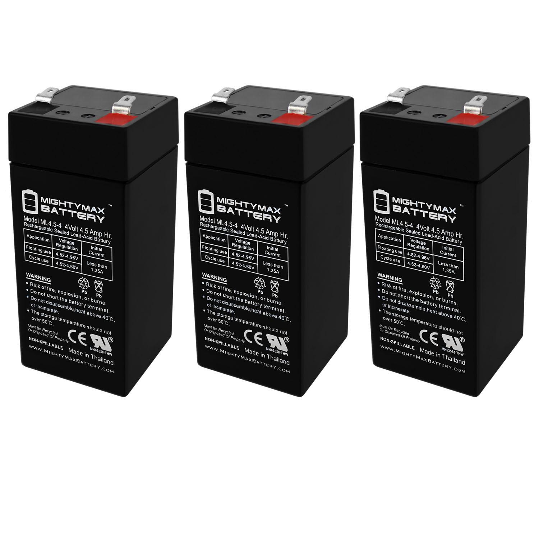 4 Volt 4.5 Ah Sealed Lead Acid Battery - 3 Pack