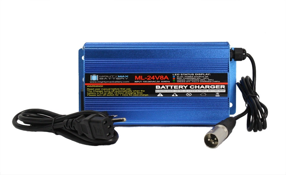24 Volt 8 Amp Charger Replacement For Jazzy 1121, 1121 HD