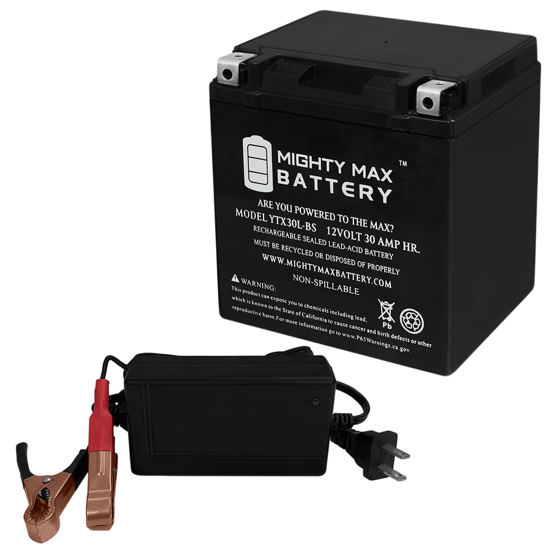 YTX30L-BS 12V 30AH Power Sport Series SLA Battery + 12V 4Amp Charger
