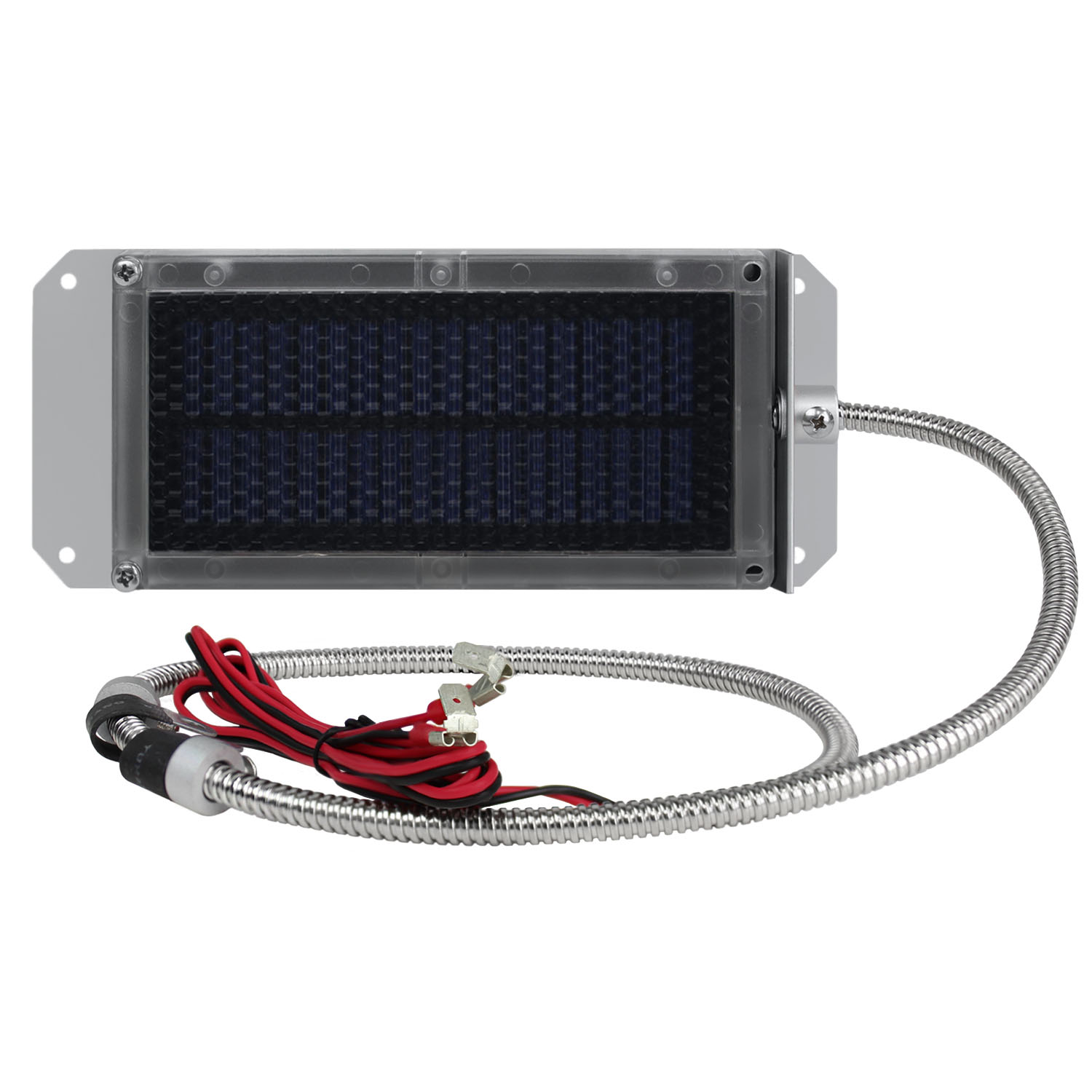 6V SOLAR PANEL CHARGER WITH ALLIGATOR CLIPS