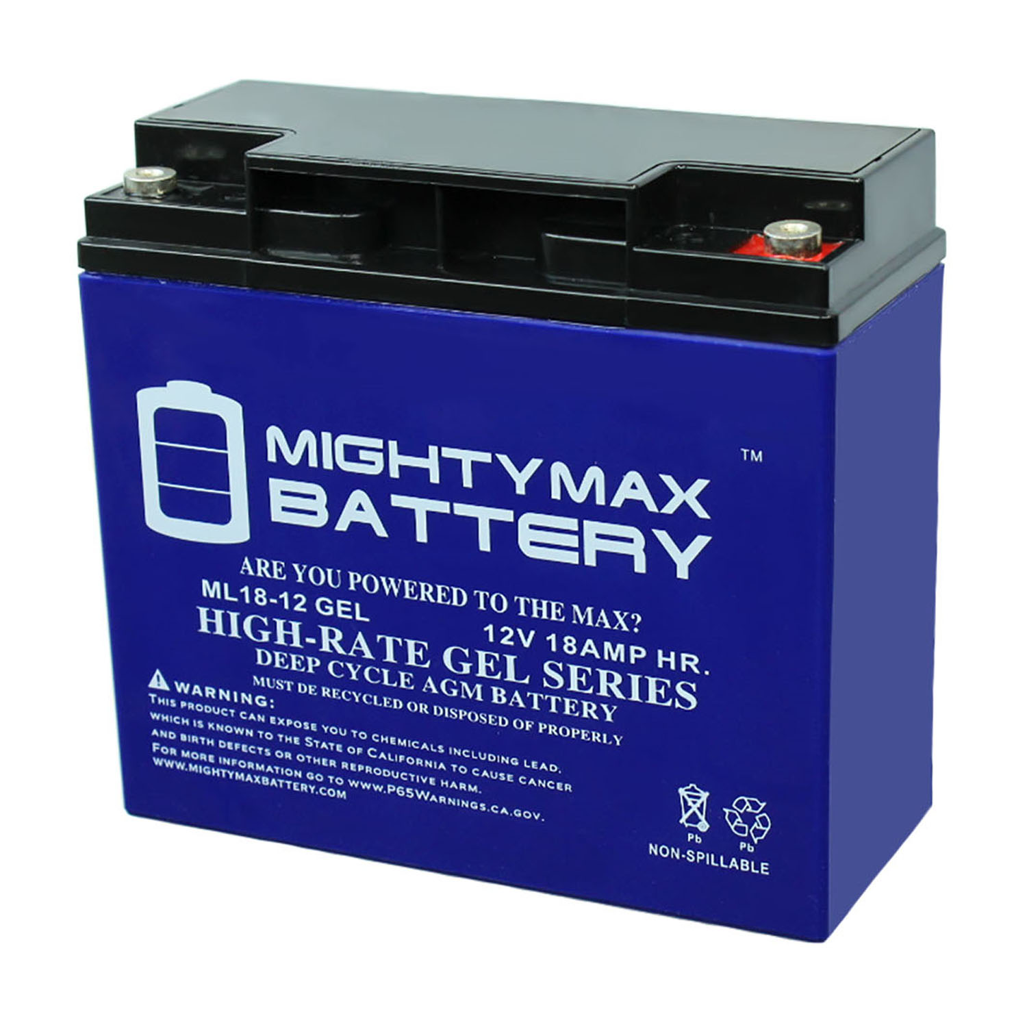 12V 18AH GEL Battery Replacement for Enduring 6-DW-17 SLA17-12