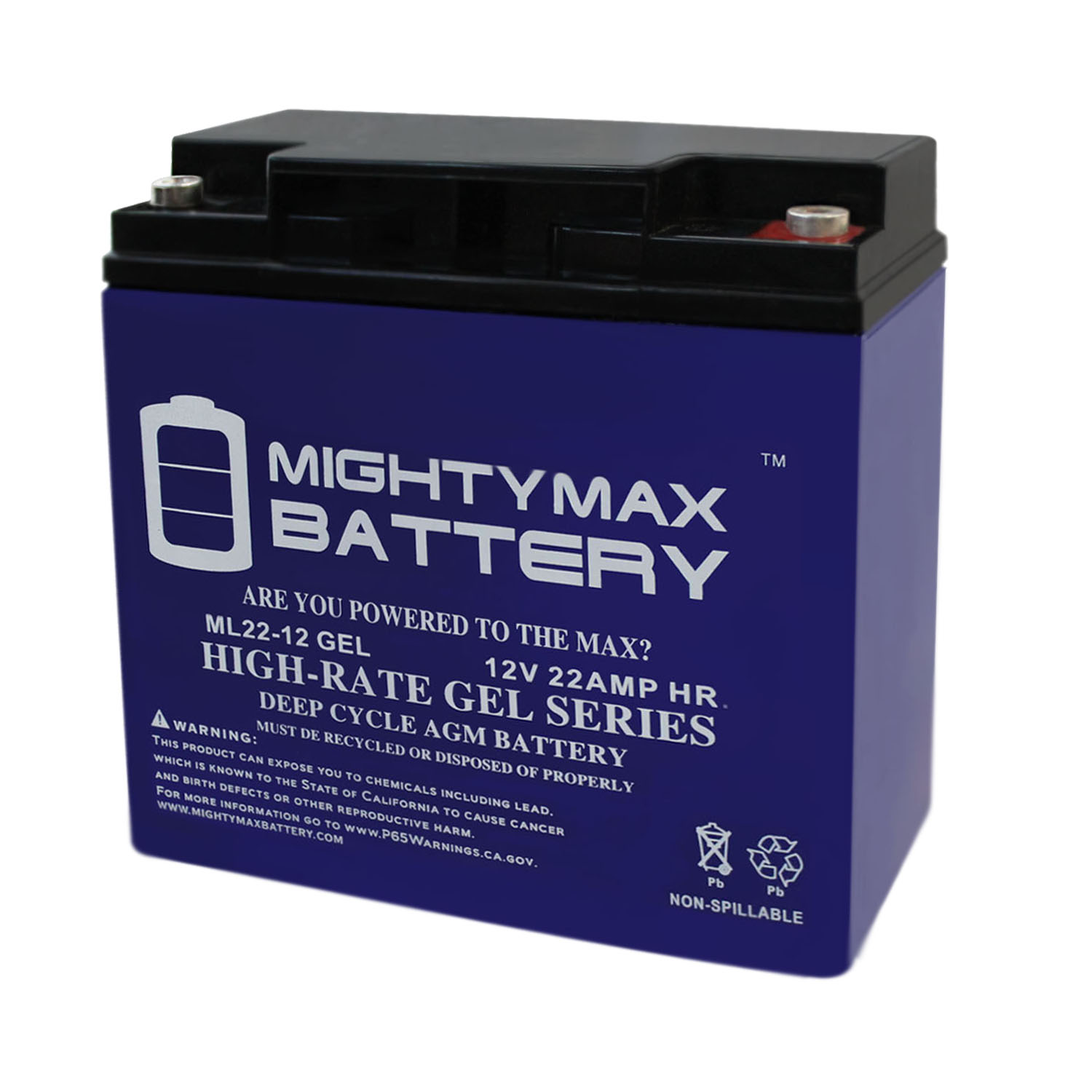 12V 22AH GEL Battery Replaces 90508011 Craftsman Black Lawn Mower