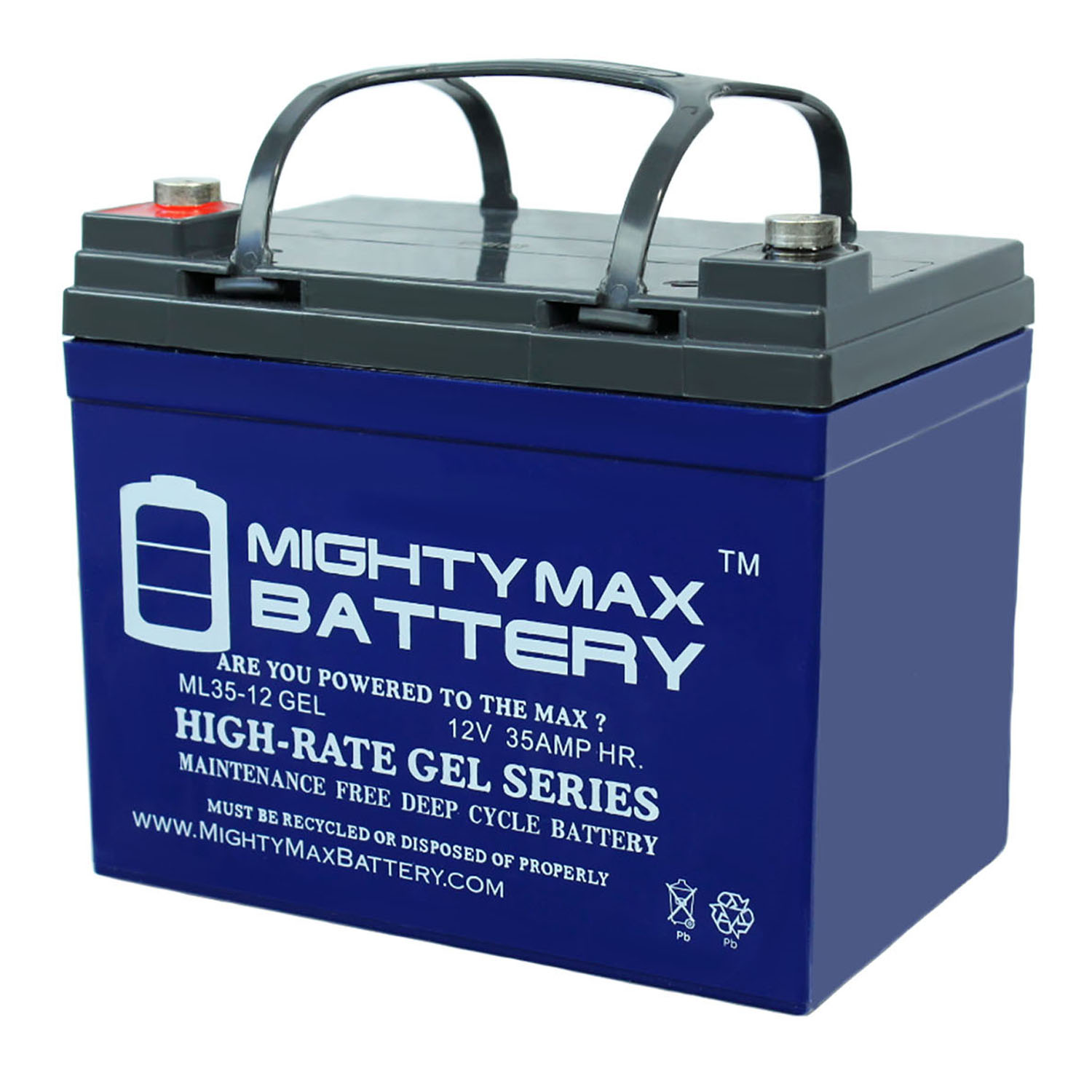 12V 35Ah GEL Battery Replacement for John Deere 455 Lawn and Garden