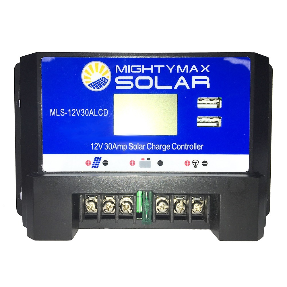 12 Volt 30 Amp PWM solar charge controller with LCD display - 2