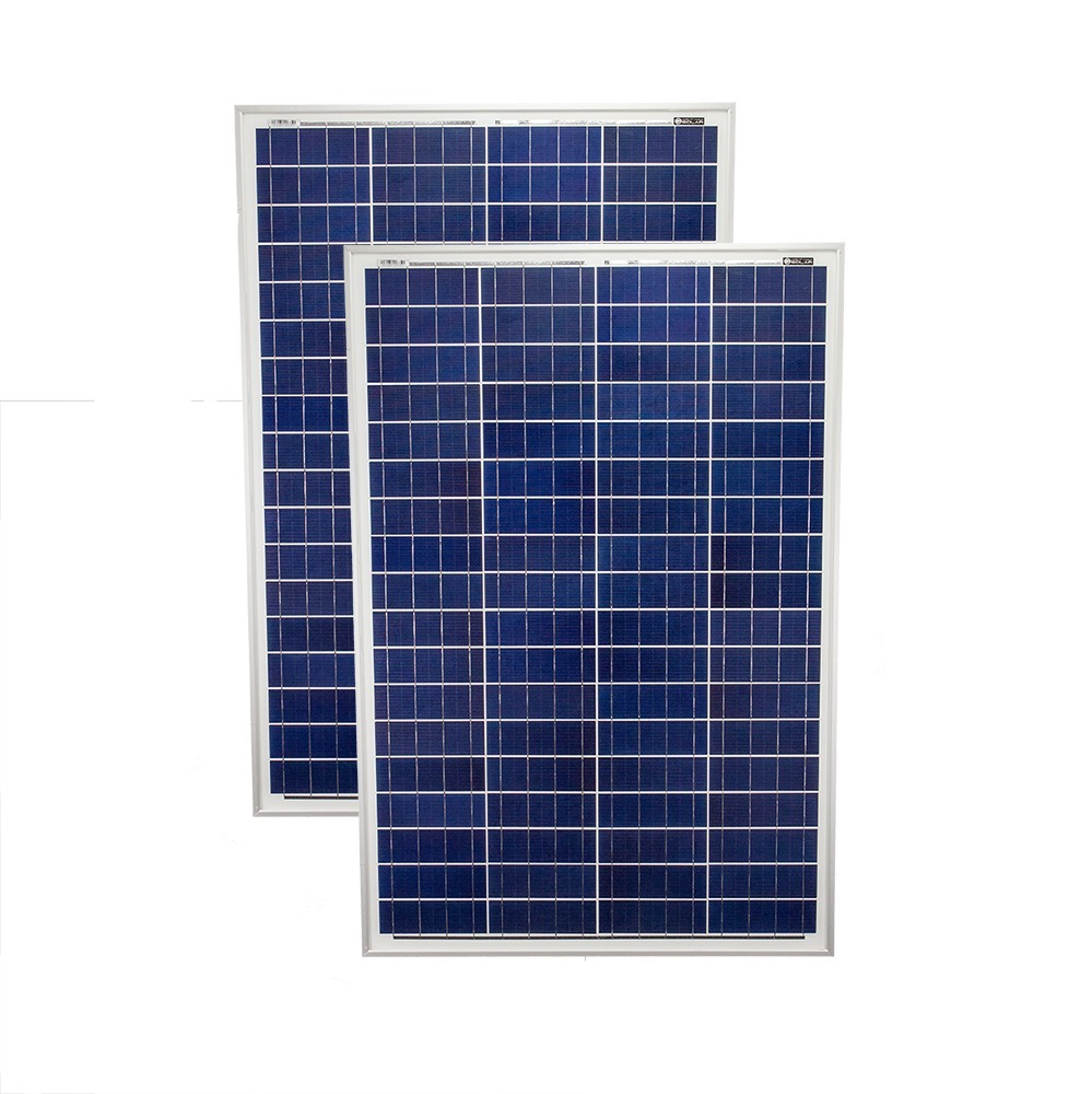 100 Watt 12 Volt Polycrystalline Solar Panel - 2 Pack