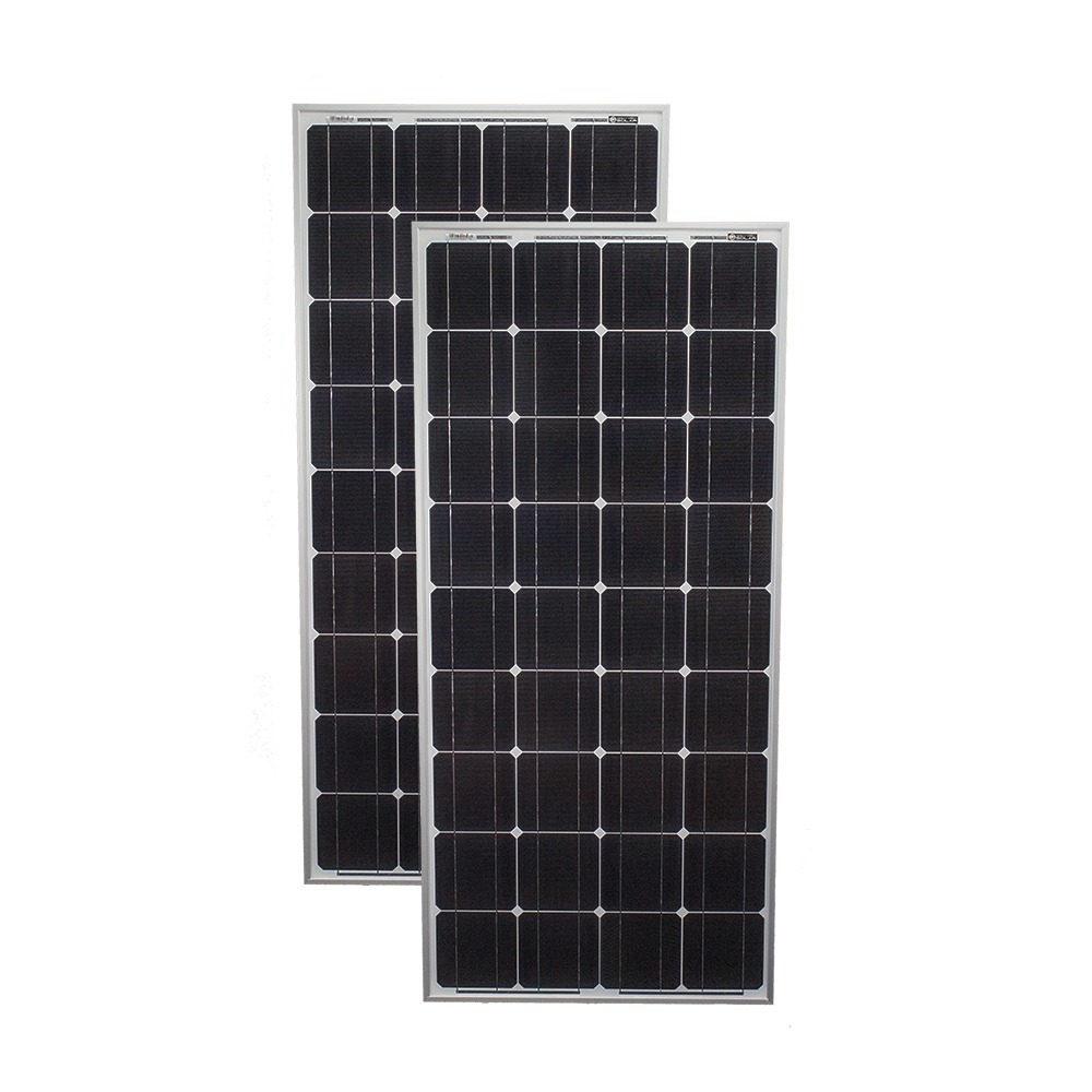 100 Watt Monocrystalline Solar Panel - 2 Pack