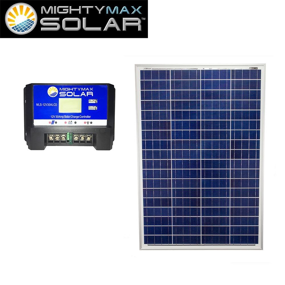 100W 12V Poly Solar Panel + 12V 30Amp Solar Charge Controller