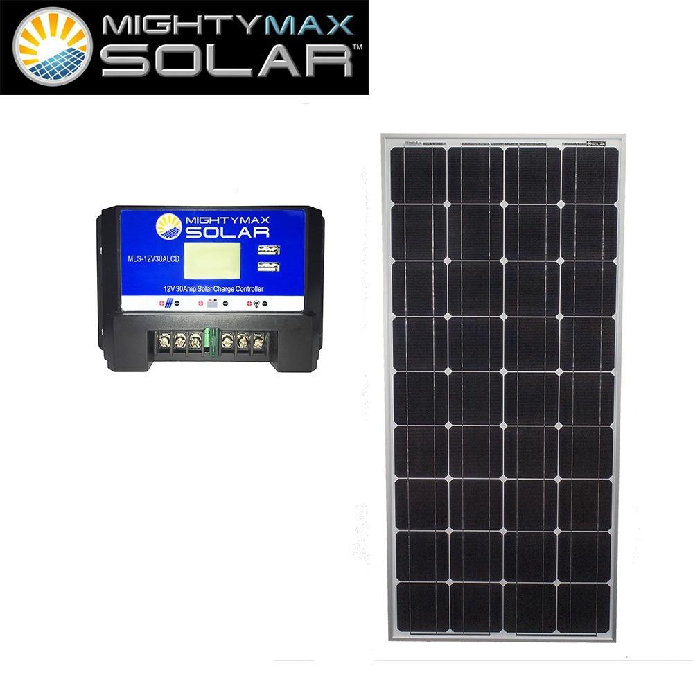 100W 12V Mono Solar Panel + 12V 30Amp Solar Charge Controller