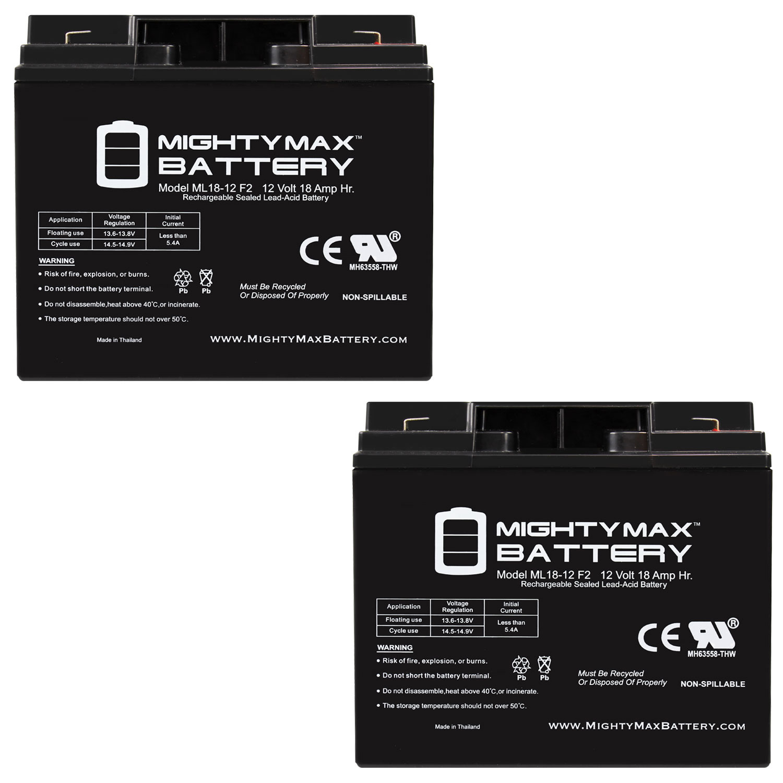 Ml18-12 - 12 Volt 18AH F2 SLA Battery - Pack 2