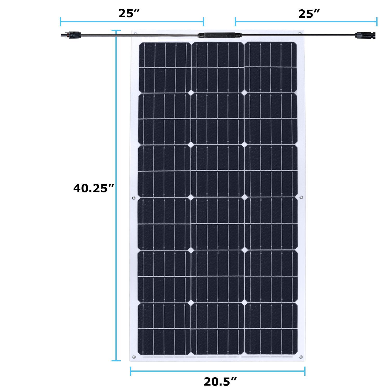 100 watt mono flex Solar Panel - 2