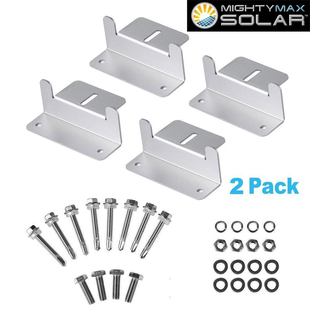 Solar Panel Z-Bracket - 2 Pack