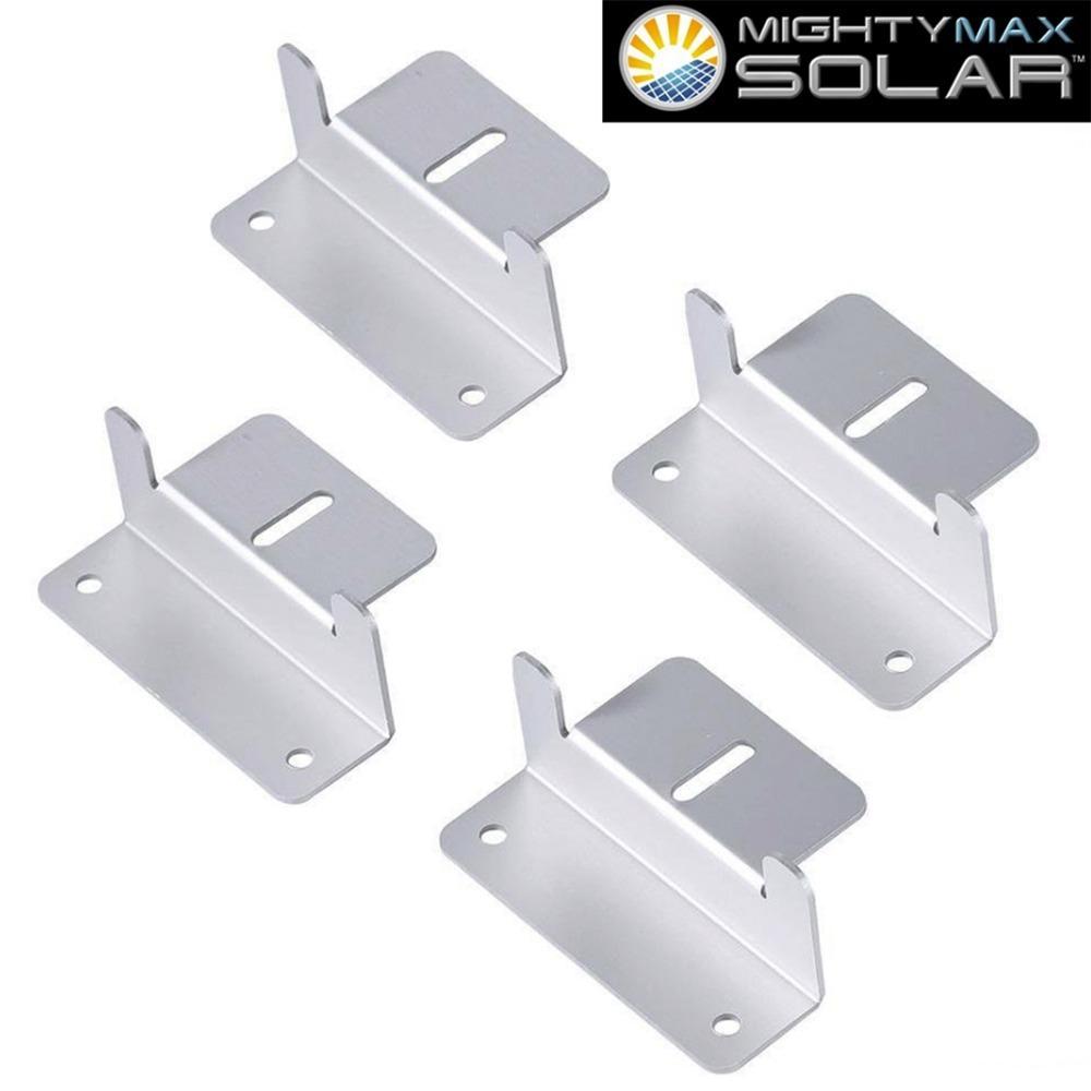 Solar Panel Z-Bracket - 4 Pack - 1