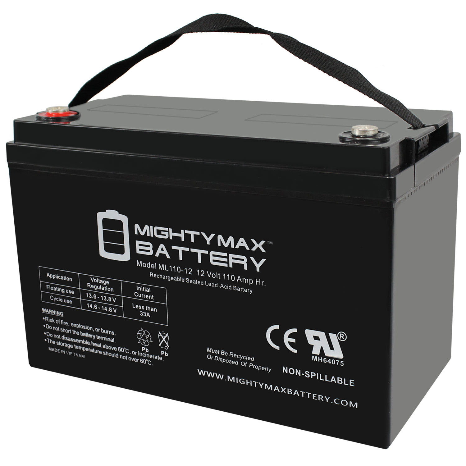 12V 110AH SLA Battery Replacement for Betco E87028-00 Stealth ASD20BT