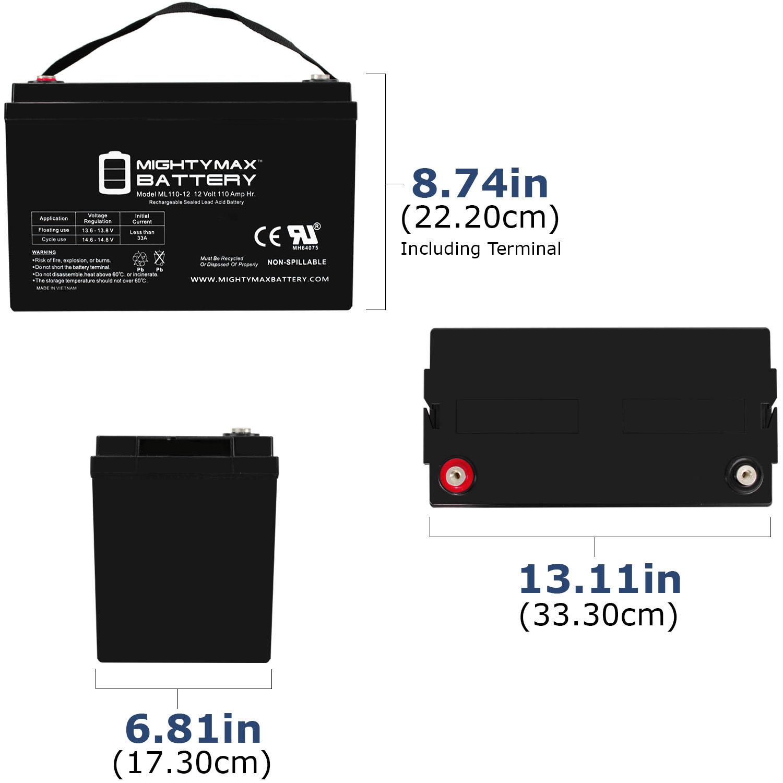 ML110-12 - 12V 110AH  SLA Battery - 1