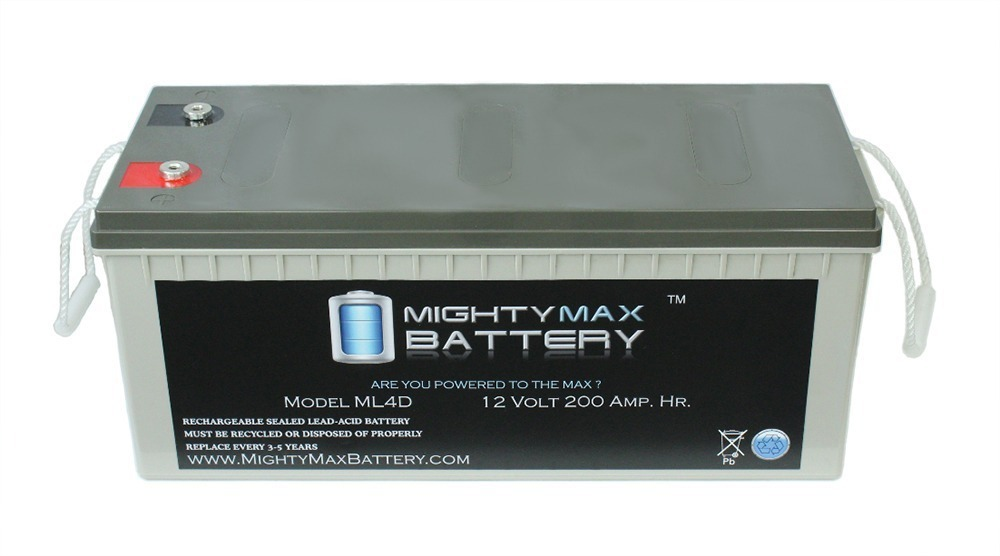 Sealed Lead-Acid - AGM-type, 12V, 200 Amps Internal Thread Battery - 1