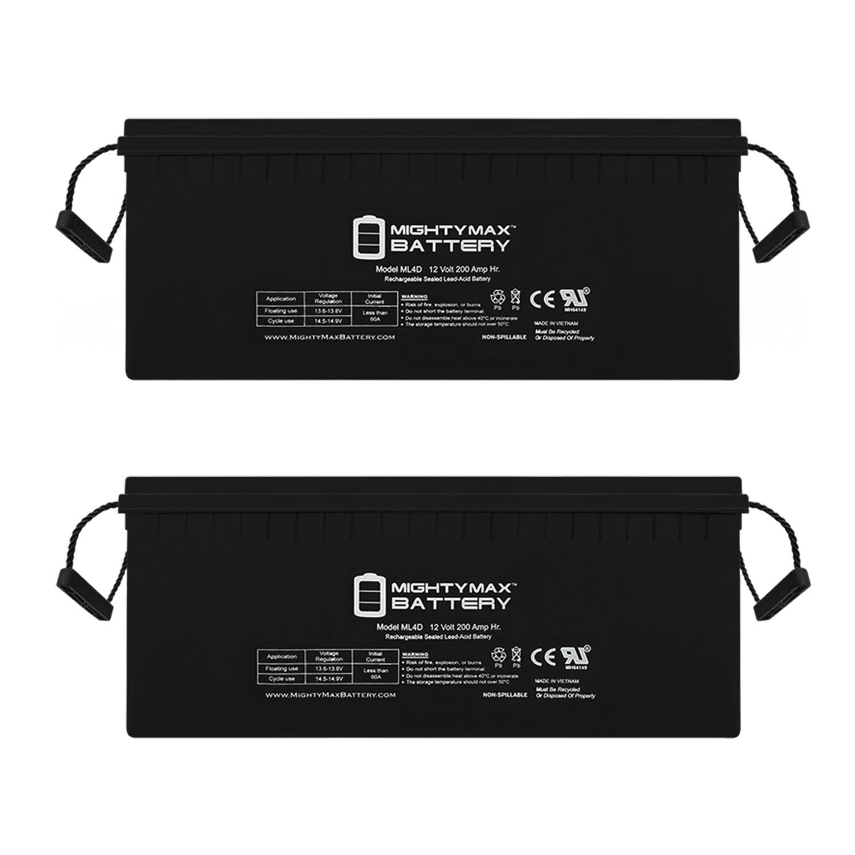 Sealed Lead-Acid Battery - AGM-type, 12V, 200 Amps - 2 Pack