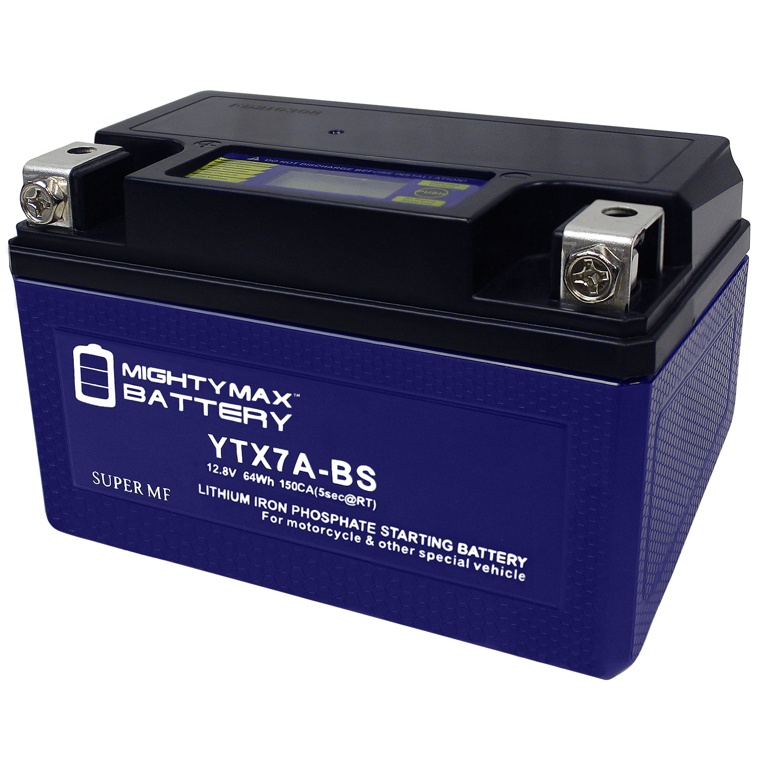 YTX7A-BS Lithium Replacement Battery for Deka YTX7A-BS AGM Motorcycle